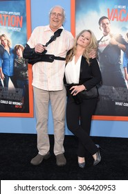 "LOS ANGELES - JUL 27:  Chevy Chase & Beverly D'Angelo arrives to the ""Vacation"" Los Angeles Premiere  on July 27, 2015 in Westwood, CA"
