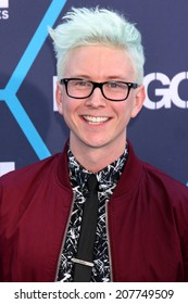 LOS ANGELES - JUL 27:  Tyler Oakley at the 2014 Young Hollywood Awards  at the Wiltern Theater on July 27, 2014 in Los Angeles, CA