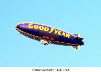 """LOS ANGELES - JUL 28:  Goodyear Blimp flying over the """"Rise of the Planet of the Apes"""" Los Angeles Premiere at Grauman's Chinese Theater on July 28, 2011 in Los Angeles, CA"""