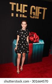 "LOS ANGELES - JUL 30:  Kiernan Shipka at the ""The Gift"" World Premiere at the Regal Cinemas on July 30, 2015 in Los Angeles, CA"