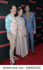 """LOS ANGELES - JUL 31:  Jason Sudeikis, Judy Greer, Lee Pace at the """"Driven"""" Los Angeles Premiere at the ArcLight Hollywood on July 31, 2019 in Los Angeles, CA"""