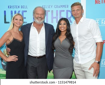 LOS ANGELES - JUL 31:  Kayte Walsh, Kelsey Grammer and Phil Walsh arrives to the 'Like Father' Los Angeles Premiere  on July 31, 2018 in Hollywood, CA