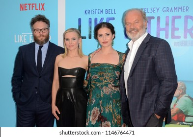 "LOS ANGELES - JUL 31:  Seth Rogen, Kristen Bell, Lauren Miller Rogen, Kelsey Grammer at the ""Like Father"" Premiere at the ArcLight Theater on July 31, 2018 in Los Angeles, CA"