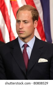 """LOS ANGELES - JULY 10:  Prince William, Duke of Cambridge  The Duke And Duchess Of Cambridge attend The Mission Serve """"Hiring Our Heroes"""" Job Fair at Sony Pictures on July 10, 2011 in Culver City, CA"""