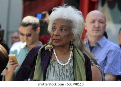LOS ANGELES - July 18:  Nichelle Nichols at the Stan Lee Hand and Footprint Ceremony at the TCL Chinese Theater IMAX on July 18, 2017 in Los Angeles, CA