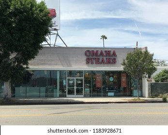 LOS ANGELES, July 21st, 2018: Exterior of an Omaha Steaks store on Pico Boulevard in West LA.