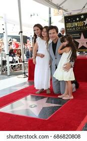 LOS ANGELES - July 26:  Amanda Anka, Francesca Bateman, Jason Bateman, Maple Bateman at the Jason Bateman Hollywood Walk of Fame Star Ceremony at the Walk of Fame on July 26, 2017 in Hollywood, CA