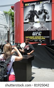 LOS ANGELES - JULY 29: Poster promoting the UFC fights Evans vs Ortiz and Belfort vs Akiyama during the ESPN X Games Seventeen in Los Angeles on July 29, 2011 in Los Angeles California.