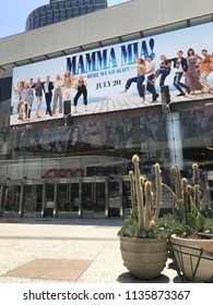 LOS ANGELES, JULY 7, 2018: Exterior of the AMC Century City theaters at the Westfield shopping mall in Century City.