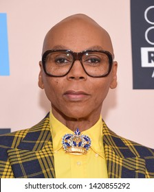 LOS ANGELES - JUN 02:  RuPaul Charles arrives for the Critics Choice Reels Awards on June 02, 2019 in Beverly Hills, CA