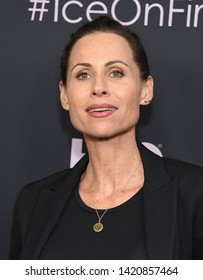 LOS ANGELES - JUN 05:  Minnie Driver arrives for the HBO 'Ice On Fire' Premiere on June 05, 2019 in Hollywood, CA