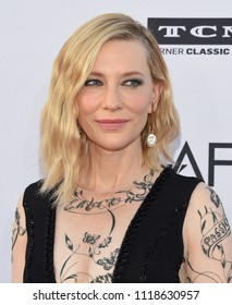 LOS ANGELES - JUN 07:  Cate Blanchett arrives for the AFI Lifetime Achievement Awards to George Clooney on June 07, 2018 in Hollywood, CA