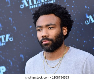 "LOS ANGELES - JUN 08:  Donald Glover arrives to the ""Atlanta"" Robbin Season FYC Event  on June 8, 2018 in Hollywood, CA"