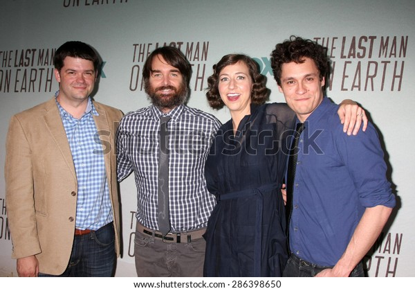 "LOS ANGELES - JUN 10:  Christopher Miller, Will Forte, Kristen Schaal, Phil Lord at the FOX's ""Last Man On Earth"" Screening And Panel at the Landmark Theatre on June 10, 2015 in Los Angeles, CA"