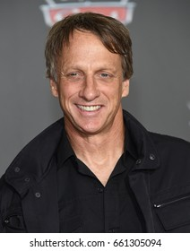 "LOS ANGELES - JUN 10:  Tony Hawk arrives for the ""Cars 3"" Hollywood Premiere on June 10, 2017 in Anaheim, CA"