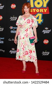 "LOS ANGELES - JUN 11:  Christina Hendricks at the ""Toy Story 4"" Premiere at the El Capitan Theater on June 11, 2019 in Los Angeles, CA"