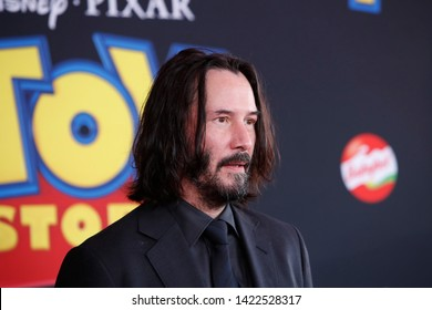 "LOS ANGELES - JUN 11:  Keanu Reeves at the ""Toy Story 4"" Premiere at the El Capitan Theater on June 11, 2019 in Los Angeles, CA"