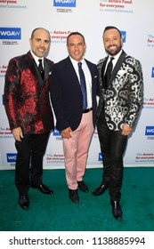 LOS ANGELES - JUN 11: Nick Verreos, Louie Anchondo, David Paul at The Actors Fund's 22nd Annual Tony Awards Viewing Party at the Skirball Cultural Center on June 10, 2018 in Los Angeles, CA