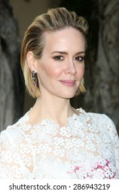 """LOS ANGELES - JUN 11:  Sarah Paulson at the """"American Horror Story: Freak Show"""" Screening at the Paramount Theater on June 11, 2015 in Los Angeles, CA"""