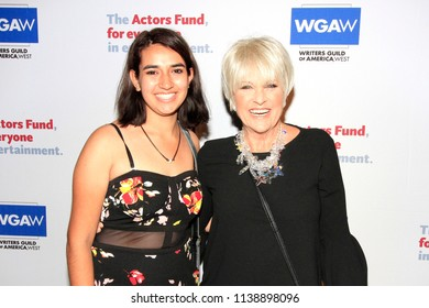 LOS ANGELES - JUN 11: Sydney Yllanes, Lorna Luft at The Actors Fund's 22nd Annual Tony Awards Viewing Party at the Skirball Cultural Center on June 10, 2018 in Los Angeles, CA