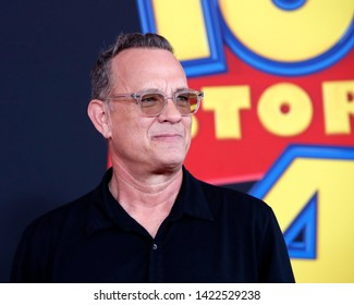 "LOS ANGELES - JUN 11:  Tom Hanks at the ""Toy Story 4"" Premiere at the El Capitan Theater on June 11, 2019 in Los Angeles, CA"