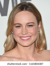 LOS ANGELES - JUN 13:  Brie Larson arrives for the WIF 2018 Crystal + Lucy Awards on June 13, 2018 in Beverly Hills, CA