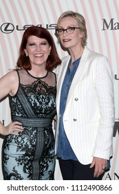 LOS ANGELES - JUN 13:  Kate Flannery, Jane Lynch at the Women In Film 2018 Crystal + Lucy Awards at the Beverly Hilton Hotel on June 13, 2018 in Beverly Hills, CA