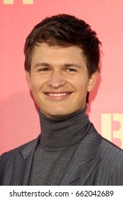 """LOS ANGELES - JUN 14:  Ansel Elgort at the """"Baby Driver"""" Premiere at the The Theater at Ace Hotel on June 14, 2017 in Los Angeles, CA"""