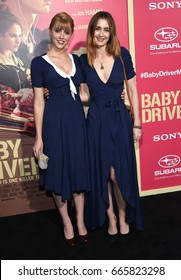 "LOS ANGELES - JUN 14:  Madeline Zima and Yvonne Zima arrives for the ""Baby Driver"" Los Angeles Premiere on June 14, 2017 in Los Angeles, CA"