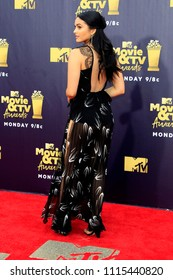 LOS ANGELES - JUN 16:  Camila Mendes at the 2018 MTV Movie And TV Awards at the Barker Hanger on June 16, 2018 in Santa Monica, CA
