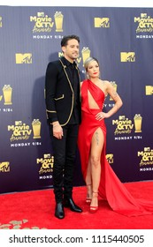 LOS ANGELES - JUN 16:  G-Eazy, Halsey at the 2018 MTV Movie And TV Awards at the Barker Hanger on June 16, 2018 in Santa Monica, CA