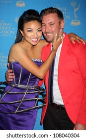 LOS ANGELES - JUN 17:  Jeannie Mai, husband arriving at the 38th Annual Daytime Creative Arts & Entertainment Emmy Awards at Westin Bonaventure Hotel on June 17, 2011 in Los Angeles, CA