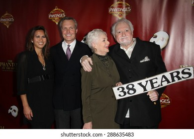 "LOS ANGELES - JUN 17:  Ryan Cassidy, Shirley Jones, Marty Ingels at the ""The Phantom of the Opera"" Play Los Angeles Premiere at the Pantages,Theater on June 17, 2015 in Los Angeles, CA"