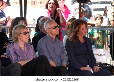 LOS ANGELES - JUN 2:  Brooke Johnson, Bob Tuschman, Susie Fogelson at the Bobby Flay Hollywood Walk of Fame Ceremony at the Hollywood Blvd on June 2, 2015 in Los Angeles, CA