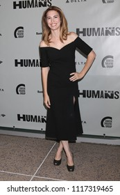 """LOS ANGELES - JUN 20:  Christy Carlson Romano at the """"Humans"""" Play Opening Night at the Ahmanson Theatre on June 20, 2018 in Los Angeles, CA"""