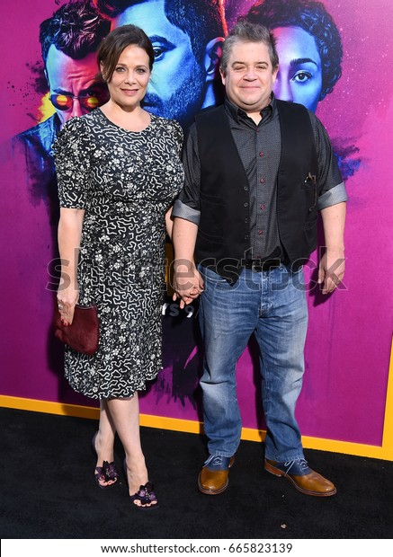 LOS ANGELES - JUN 20:  Meredith Salenger and Patton Oswalt arrives for the AMC Season Two 'Preacher' Premiere Screening on June 20, 2017 in Los Angeles, CA