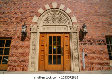 Los Angeles, JUN 23: Entrance of Gwynn Wilson Student Union in USC on JUN 23, 2017 at Los Angeles, California