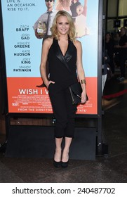 """LOS ANGELES - JUN 23:  Hunter King arrives to the """"Wish I Was Here"""" Los Angeles Premiere  on June 23, 2014 in Los Angeles, CA"""