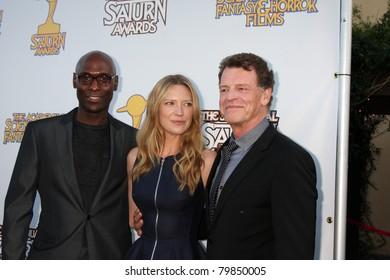 LOS ANGELES - JUN 23:  Lance Reddick, Anna Torv, John Noble arriving at the 2011 Saturn Awards  at Castaways on June 23, 2011 in Burbank, CA