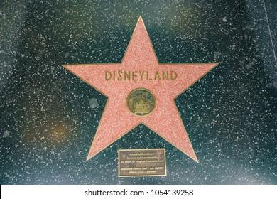 Los Angeles, JUN 23: Star Walk of Fame of the famous Disneyland on JUN 23, 2017 at Los Angeles, California
