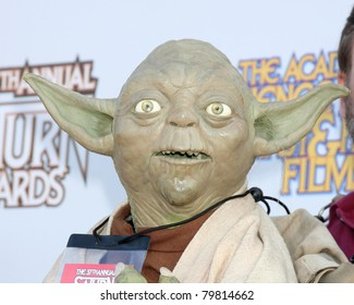 LOS ANGELES - JUN 23:  Yoda figure arriving at the 2011 Saturn Awards  at Castaways on June 23, 2011 in Burbank, CA