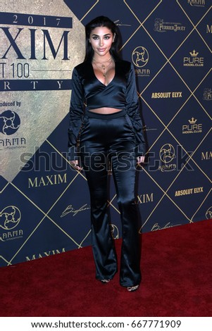 LOS ANGELES - JUN 24: Chantel Jeffries at the 2017 Maxim Hot 100 Party at