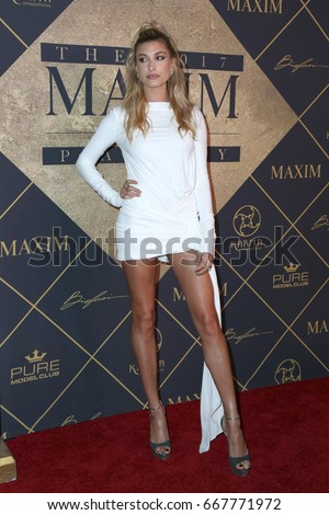 LOS ANGELES - JUN 24: Hailey Baldwin at the 2017 Maxim Hot 100 Party at