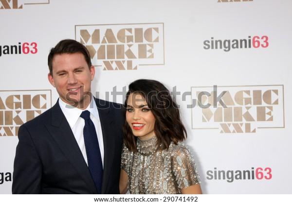 "LOS ANGELES - JUN 25:  Channing Tatum, Jenna Dewan-Tatum at the ""Magic Mike XXL"" Premiere at the TCL Chinese Theater on June 25, 2015 in Los Angeles, CA"
