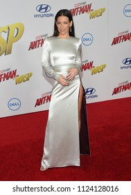 LOS ANGELES - JUN 25:  Evangeline Lilly arrives to the 'Ant-Man and The Wasp' World Premiere  on June 25, 2018 in Hollywood, CA