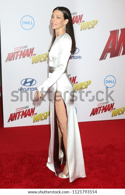 LOS ANGELES - JUN 25:  Evangeline Lilly at the Ant-Man and the Wasp Premiere at the El Capitan Theater on June 25, 2018 in Los Angeles, CA