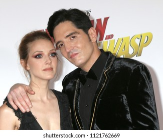 LOS ANGELES - JUN 25:  Evelyn Leigh, David Dastmalchian at the Ant-Man and the Wasp Premiere at the El Capitan Theater on June 25, 2018 in Los Angeles, CA