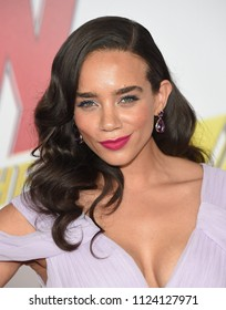 LOS ANGELES - JUN 25:  Hannah John-Kamen arrives to the 'Ant-Man and The Wasp' World Premiere  on June 25, 2018 in Hollywood, CA