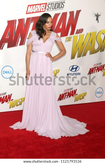 LOS ANGELES - JUN 25:  Hannah John-Kamen at the Ant-Man and the Wasp Premiere at the El Capitan Theater on June 25, 2018 in Los Angeles, CA