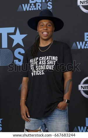 LOS ANGELES - JUN 25:  Lena Waithe at the BET Awards 2017 at the Microsoft Theater on June 25, 2017 in Los Angeles, CA